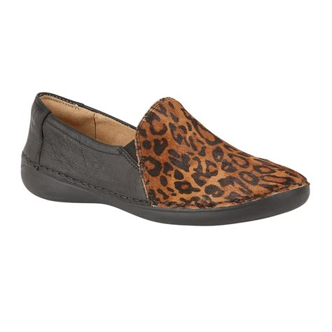 cheetah loafers naturalizer shoes karah black leather cheetah print
