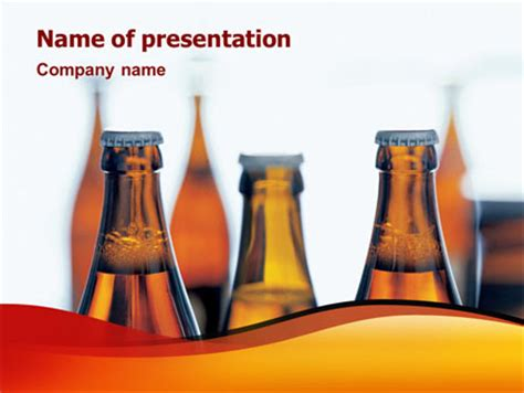 bottles of beer presentation template for powerpoint and