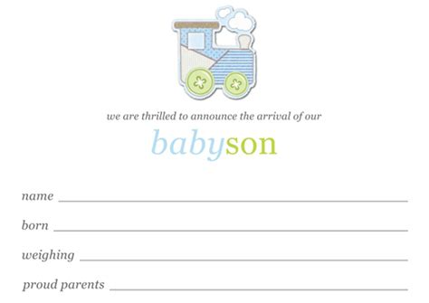 baby boy birth announcements template free download