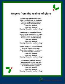Free printable christmas carol angels from the realm of glory