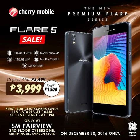 sm new year sale cherry mobile greets the new year with a flare 5 sale sm