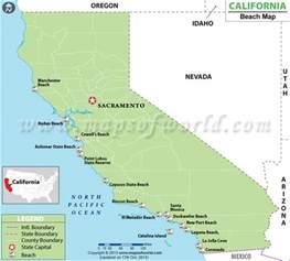Map of California Beaches, Best Beaches in California California