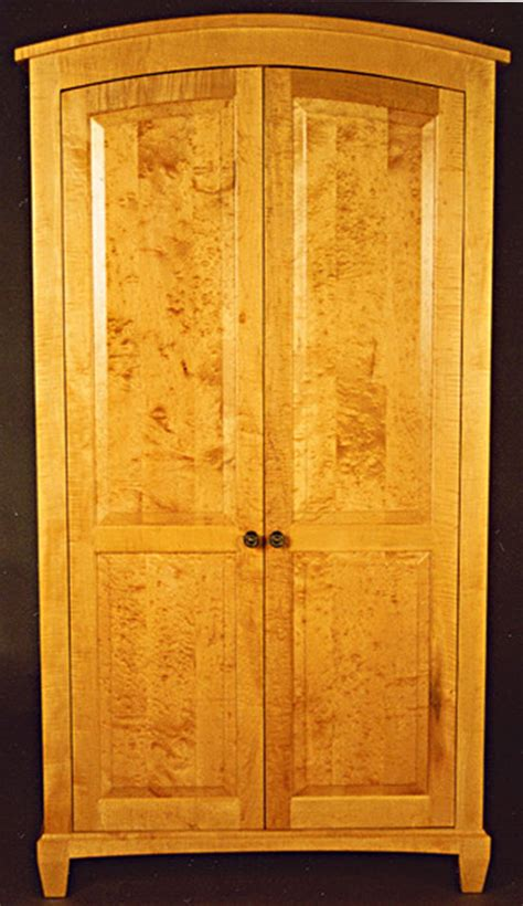 birdseye maple armoire wilson woodworking shaker furniture traditional and