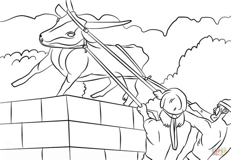 josiah destroyed the golden calf coloring page free