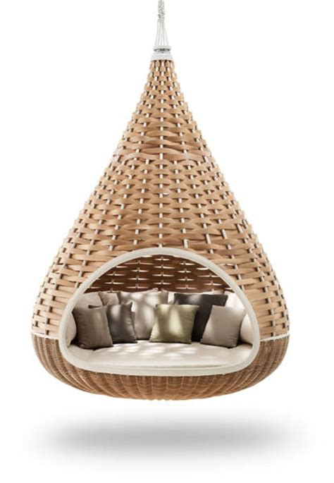 hanging outdoor chair outdoor wicker furniture collection from dedon innovative
