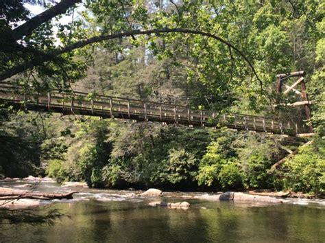 swinging bridge over toccoa river swinging bridge in georgia