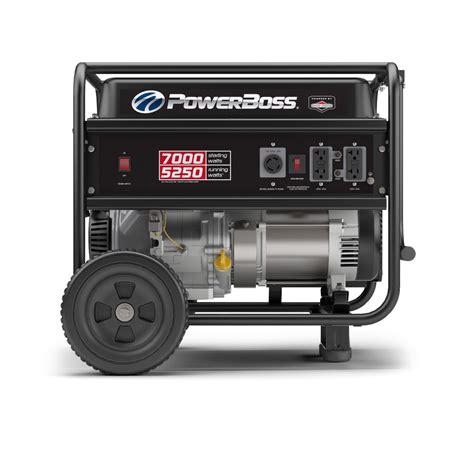 shop powerboss 5250 running watt portable generator with