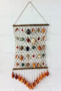 Seashell craft wall hanging decoration ideas art projects art ideas
