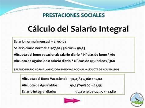 sueldo integral diario en bogota presentacion definitiva pasivos laborales 1
