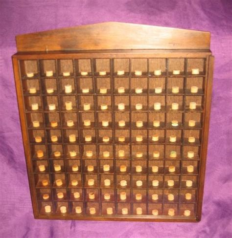Wall Kitchen Cabinets by Vtg 100 Thimble Wood Pegged Display Case Cabinet Wall