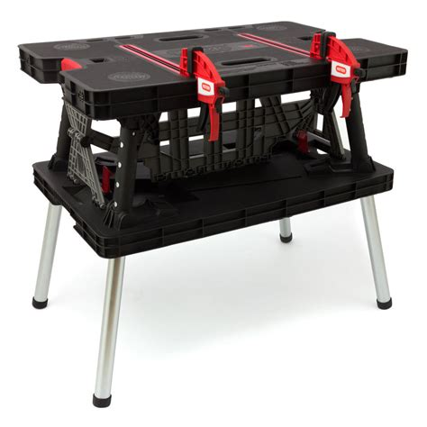 keter portable work table keter workbench portable folding adjustable working table