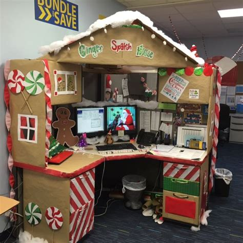 the 25 best christmas cubicle decorations ideas on