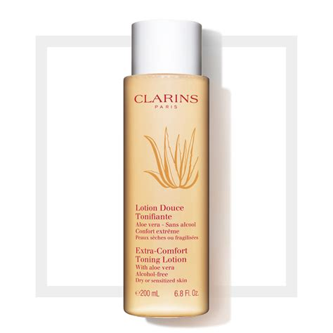 clarins extra comfort toning lotion extra comfort toning lotion dry sensitive skin ultra