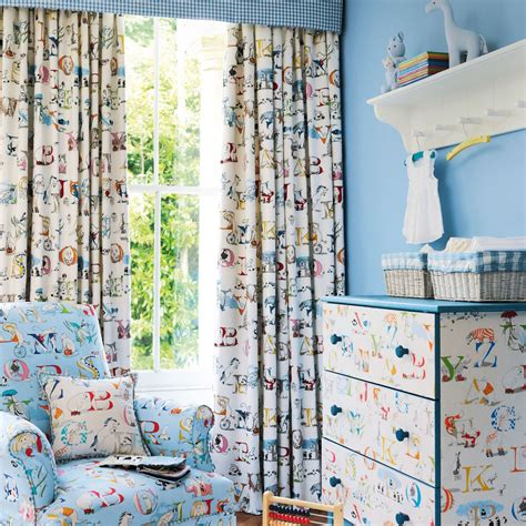 childrens fabrics for curtains new in little sanderson abracazoo fabrics little