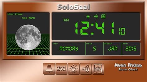 moon phase alarm clock for pc