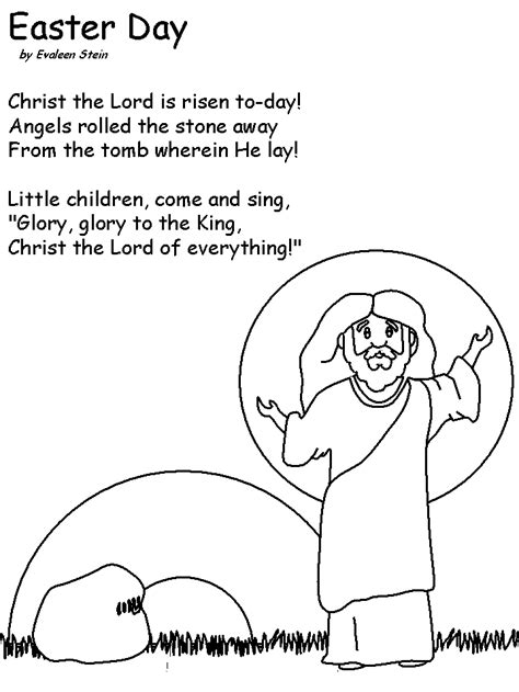 Free Easter Coloring Pages For Churchl L