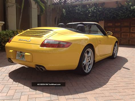 porsche 911 convertible 2005 2005 porsche 911 carrera s cabriolet 997 speed yellow