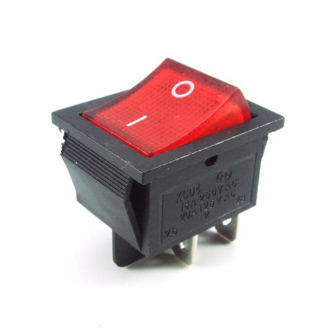 l on off switch 5x square rocker dpst car switch red led lit on off snap