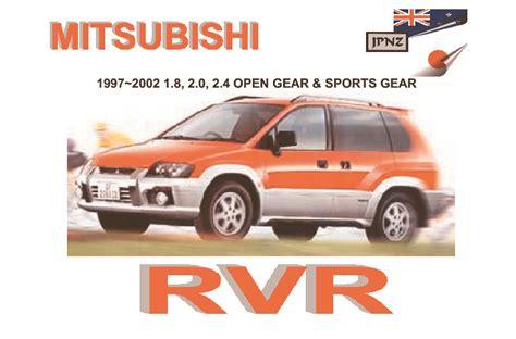 how to download repair manuals 1992 mitsubishi rvr free book repair manuals mitsubishi rvr car owners user manual 1997 2002