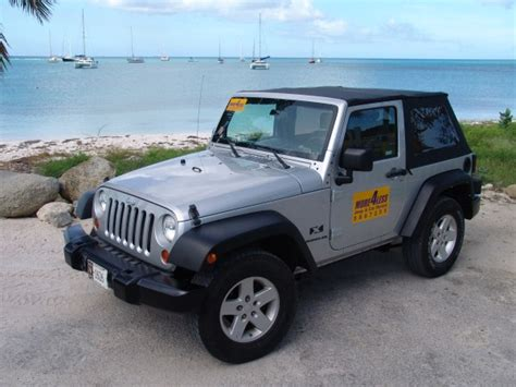 Rent A Jeep Wrangler In Aruba More4less Car Rental In Aruba