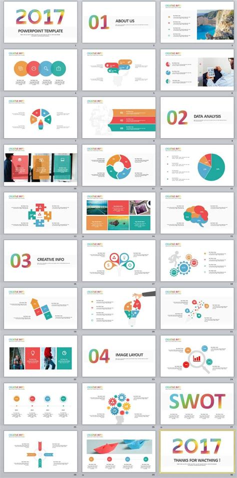 powerpoint themes new 30 best infographics swot powerpoint template
