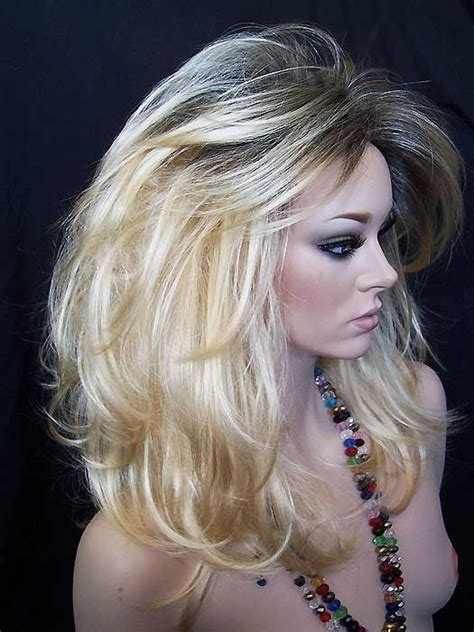 root drag hair styles harat glamour wig regrowth brown roots golden blonde