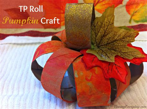 Toilet Paper Pumpkin Craft -