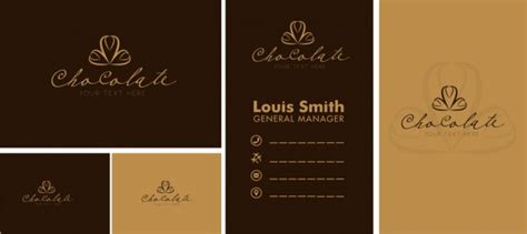 Free Name Card Template Ai by Name Card Template Chocolate Icons Logo Design Free