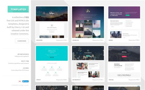 card website template templated free css html5 and responsive site templates