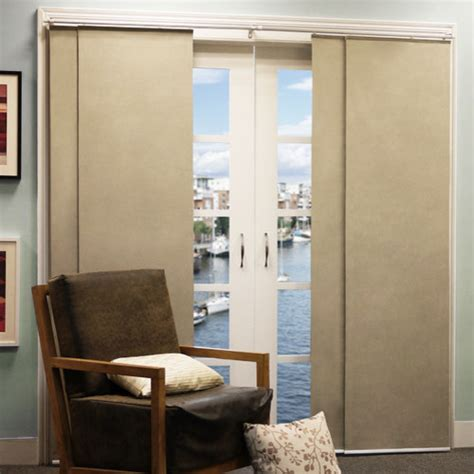 double rail sliding panel modern window treatments by wayfair