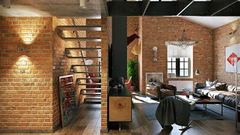 Hermoso  Pared Ladrillo Visto #3: Brick-loft-design.jpg