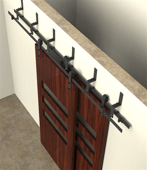 Sliding Closet Door Hardware 5 6 6 6 8ft Bypass Sliding Barn Wood Closet Door Rustic Black Hardware In Doors From Home