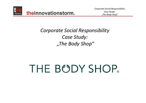 The Shop Contol csr case study the shop