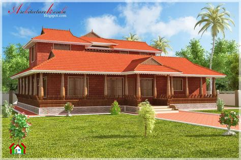 Kerala Style House Plans With Cost by Nalukettu Style Kerala House Elevation Architecture Kerala