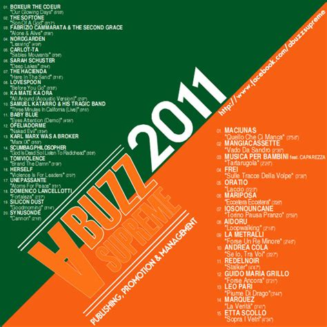 a buzz supreme la compilation a buzz supreme 2011 vol 1 vol 2