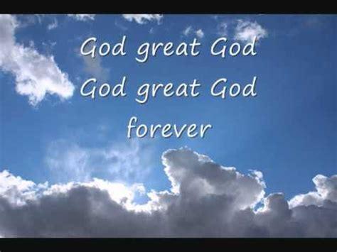 printable lyrics to nobody greater kurt carr god great god lyrics