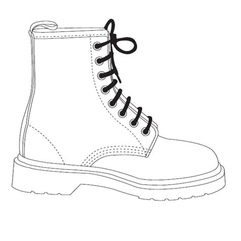 design a shoe template image for the resource doc marten template shoes spec