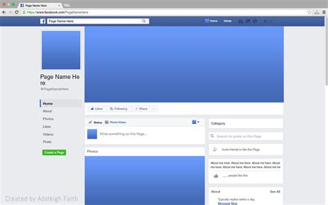 facebook themes change layouts premium facebook page mockup 2017 layout by