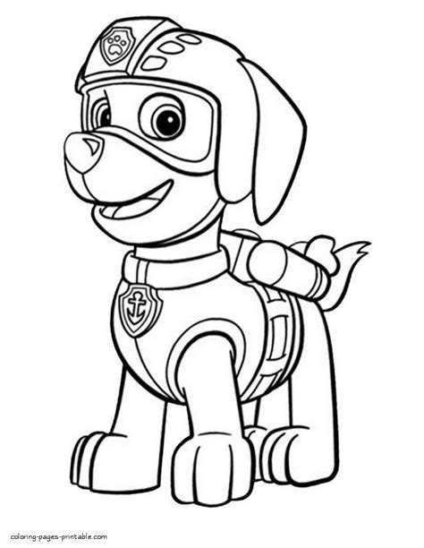 marshall paw patrol coloring pages sketch coloring page