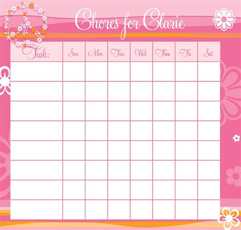 Colorful Teenage Bedroom Ideas personalized peace out chore chart frecklebox