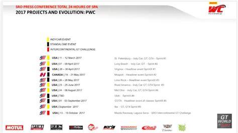 Calendã Series 2017 Spa 24 Hours 2017 Schedules Confirmed Dailysportscar