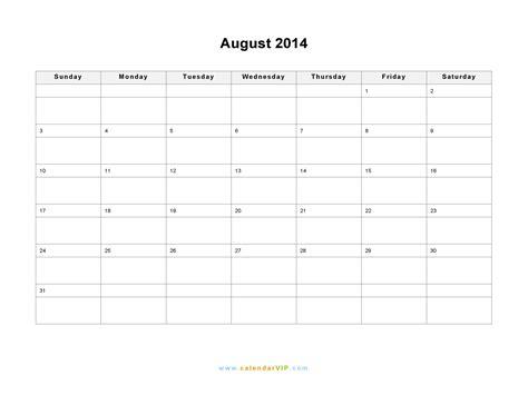 august 2014 calendar blank printable calendar template