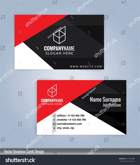 10 business card template modern business card templatesvectors 10 stock vector