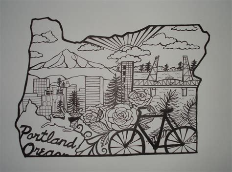 tattoo portland oregon oregon drawing future state outline