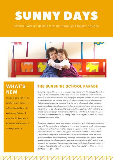 primary school newsletter templates customize 342 school newsletter templates canva