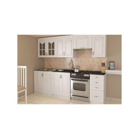cuisine simple et pas cher cuisine compl 232 te 2m40 m 233 lamin 233 bois avec moulures dina