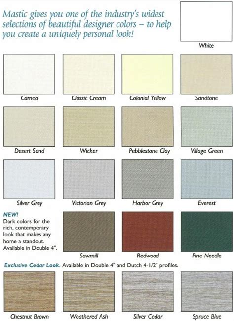 colors of vinyl siding for houses certainteed vinyl siding color chart search results ask home design