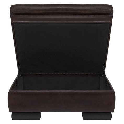 brown leather storage ottoman trevor dk brown leather storage ottoman