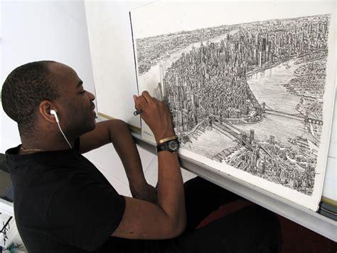 drawing manhattan   studio stephen wiltshire image