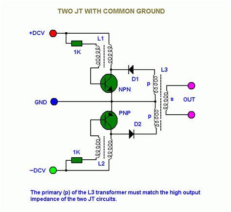 joules thief circuit diagram joule thief circuit diagrams etc